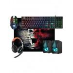 Игровой набор 5 предметов игровая клавиатура/мышь/наушники/коврик/колонки Tor