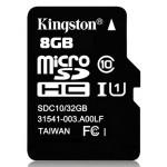 Карта памяти MicroSD 8GB Class 10 HC-I