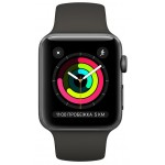 Смарт-часы Apple Watch Series 3 GPS 38mm Space Grey Aluminum Case with Black Sport Band